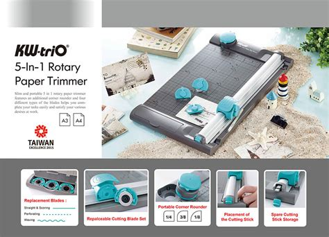 Kw Trio 4 In 1 Rotary Paper Trimmer Alat Pemotong Kertas Cutting Mat news