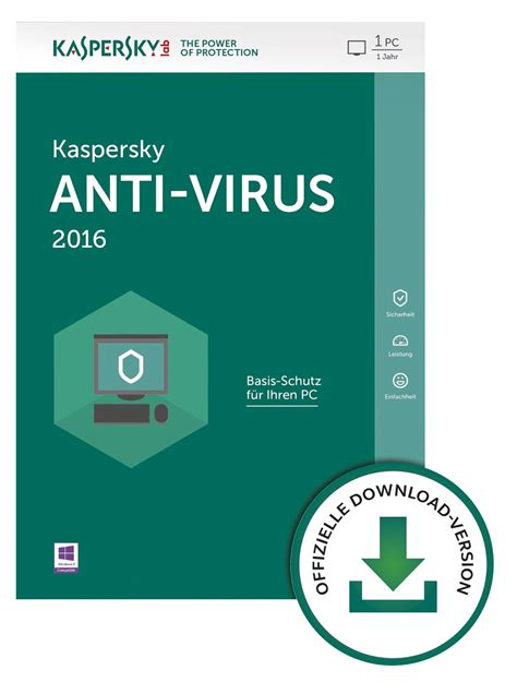 Kaspersky Anti Virus 3pc kaspersky antivirus 2016 3pc 2 jahre 56 07chf ean