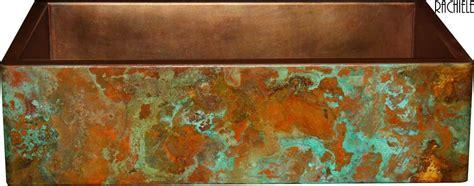 rachiele copper farm sinks rustic copper patina choices for copper apron front sinks