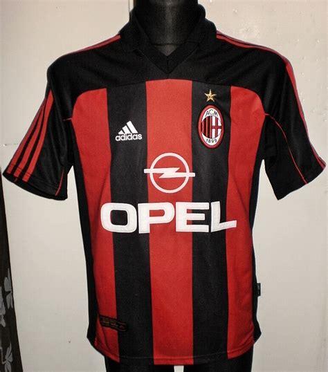 ac milan home football shirt   sponsored  opel