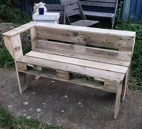 simple pallet bench very simple ideas to reuse wood pallets pallet ideas