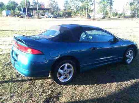 manual cars for sale 1996 mitsubishi eclipse engine control sell used 1996 mitsubishi eclipse spyder gs convertible 2 door 2 4l in waycross georgia united