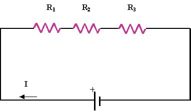 three resistors are connected in series across a battery the value of each resistance procedure