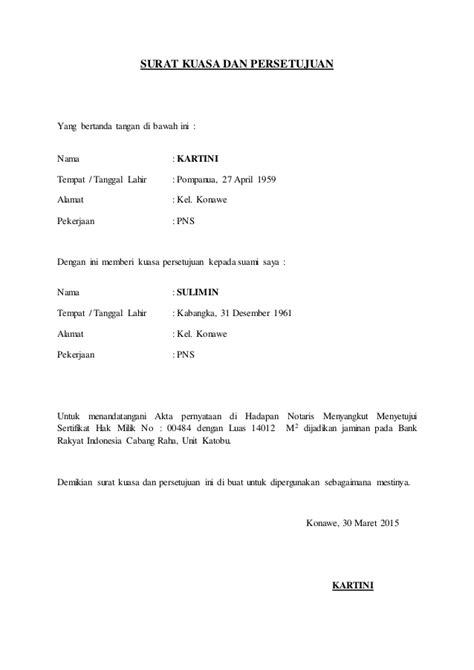 surat kuasa dan persetujuan