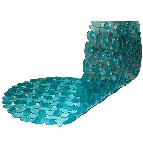 Aqua Mat by Pebbleyard Aqua Blue Shower Mat By Pebbleyard