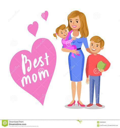 hijo ve a su mama dedearse mime y sus ni 241 os mam 225 y ni 241 os sonrientes hija e hijo