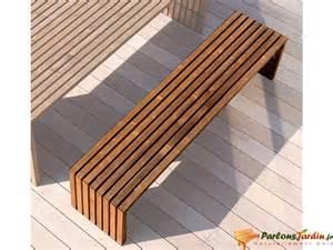 banc jardin en bois teint 233 design karel sur parlonsjardin fr