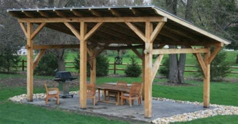 Outdoor Metal Shelters by A Simple But Beautiful Shed Roof Pavilion Https Www