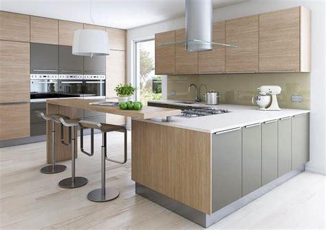 modern oak kitchen modern oak kitchen designs white countertops gray accents
