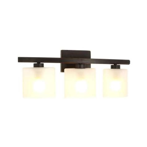 Hton Bay Wall Sconces hton bay ettrick 3 light rubbed bronze sconce dth1313a 2 the home depot