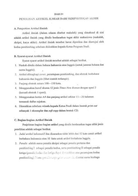 cara membuat artikel skripsi panduan penulisan jurnal ilmiah artikel
