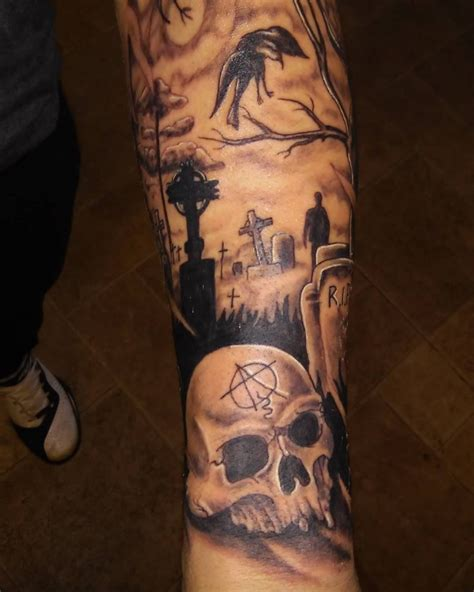 cemetery tattoos 20 graveyard designs ideas design trends