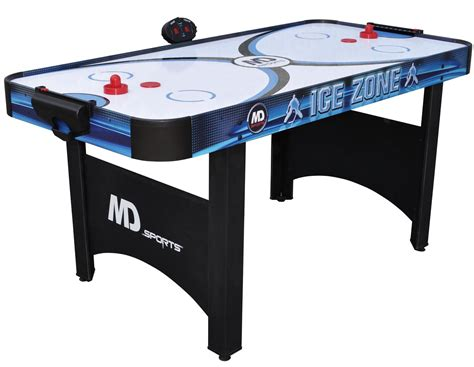 md sports 16600 66in air powered hockey table with
