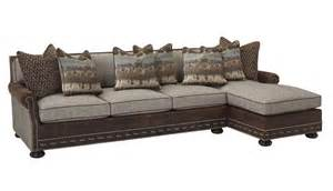 Antler Decor Chaise Sectional Western Sofas And Loveseats Free Shipping