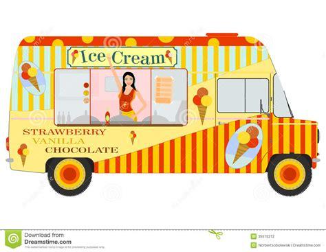 ice cream van with inside stock photography image