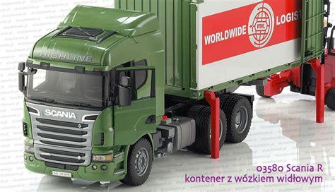 03580 bruder scania r kontener z w 243 zkiem widłowym zabawki bruder sklep warszawa
