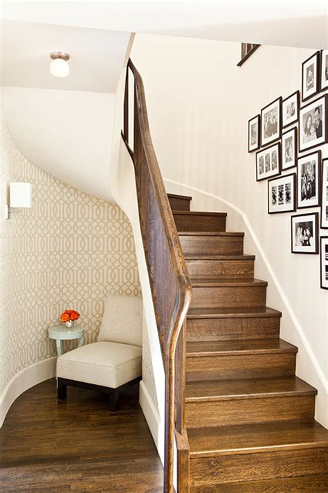 under the stairs reading nook transitional entrance foyer mona ross berman interiors