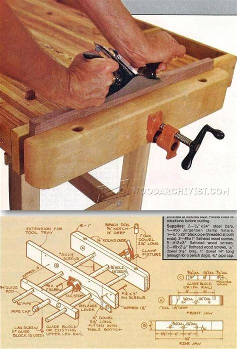 diy bench vise workshop solutions projects tips