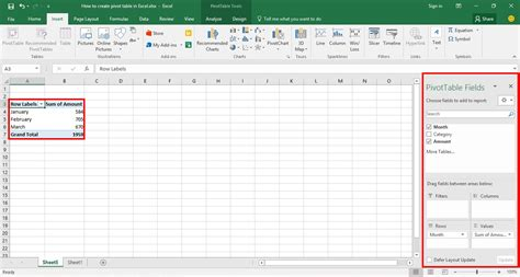 how to create a pivot table in excel yodalearning