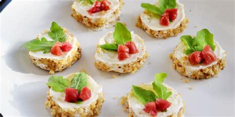 cheese canape recipes goat s cheese canap 233 recipe great british chefs
