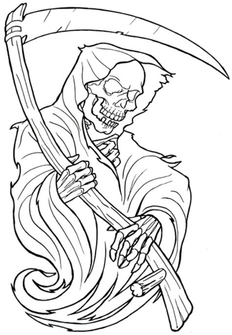Skull Tattoo coloring pages Free Printable Coloring Pages