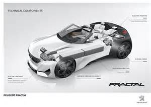 Electric Car Engine Design Peugeot Previews Electric Coup 233 Fractal W