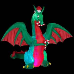 Home Depot Christmas Lawn Decorations gemmy 9 ft h inflatable holiday dragon 38088 the home depot
