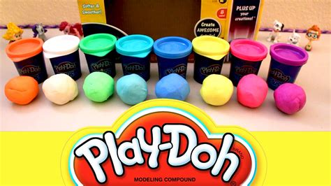 play doh colors play doh plus 8 color pack learn colors