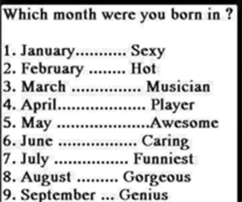 which month you were born birth date pictures photos images and pics for