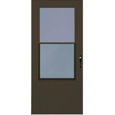Half Doors Lowes by Larson Bismarck Aluminum Brown Mid View Tempered Glass