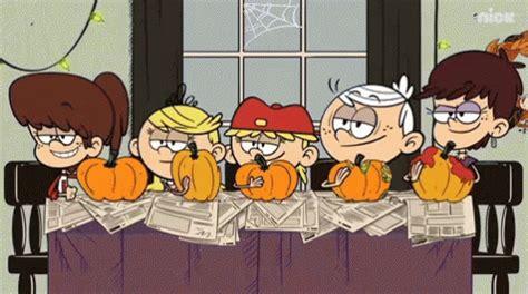 pumpkin carving gif loudhouse loudhouseseries