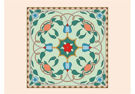 fliese floral floral tile vector free vector stock