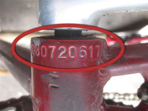 what is serial bike serial numbers