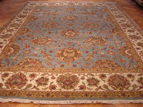 knotted rugs quality blue ivory jaipur 10x14 quality area rug knotted ebay