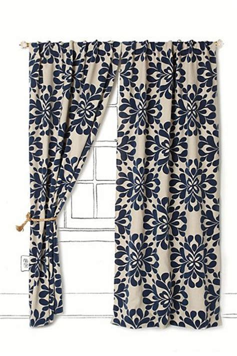 blue floral drapes coqo floral curtain anthropologie love both navy and mus