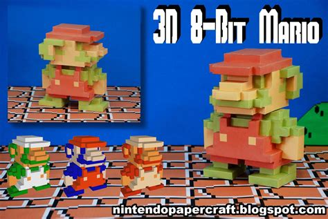 Paper Craft Mario - my papercraft bloggie 3d 8 bit mario