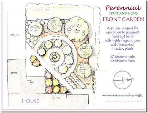 perennial herb garden layout design and build a low maintenance perennial fruit and