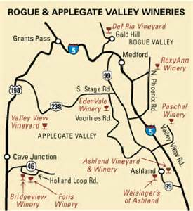 eugene oregon wineries map southern oregon winery tour guide 2007 2008
