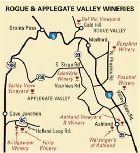 southern oregon winery map southern oregon winery tour guide 2007 2008