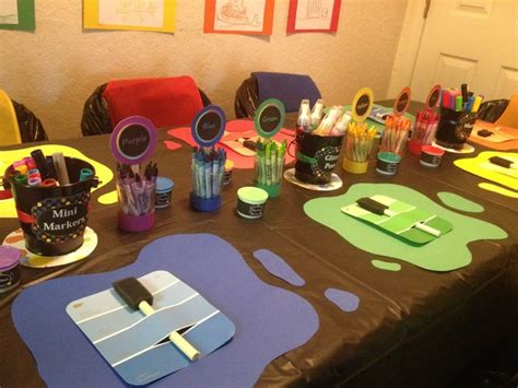 art themed events art party birthday party ideas photo 43 of 47 catch my