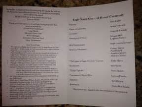 Eagle Scout Program Template by Inside Of Eagle Scout Program Eagle Scout Court Of Honor