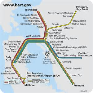 Bay Area Bart Map by Sean Linnane Bay Area Rapid Transit
