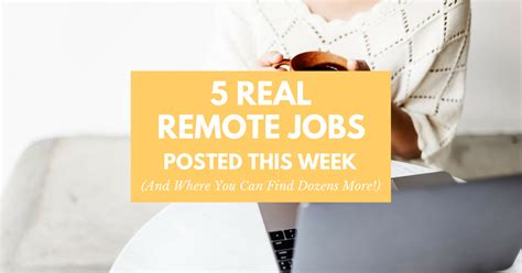 5 real work from home posted this week and where to