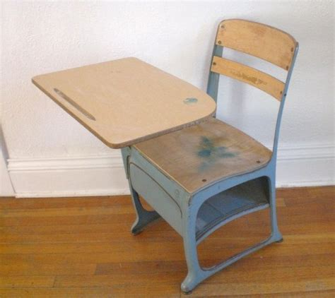 Vintage Child S School Desk And Chair Wood Metal Mid Child S Desk Chair