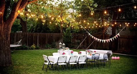 backyard decorations party how to use christmas lights for a party