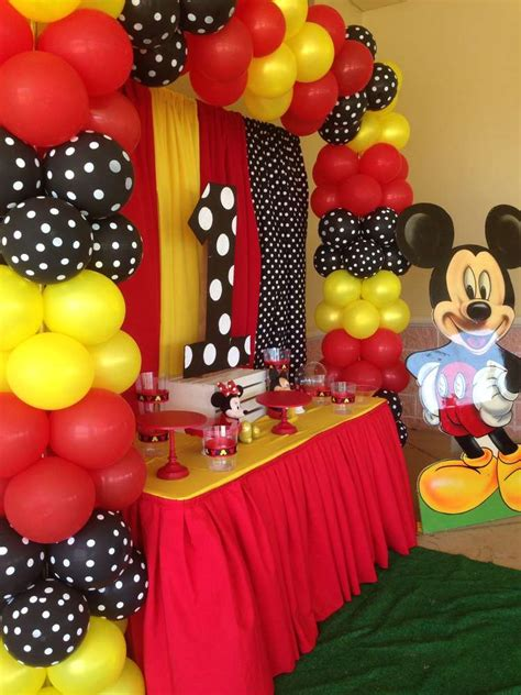 Mickey Mouse Birthday Decorations by Mickey Mouse Birthday Ideas Photo 1 Of 11 Catch
