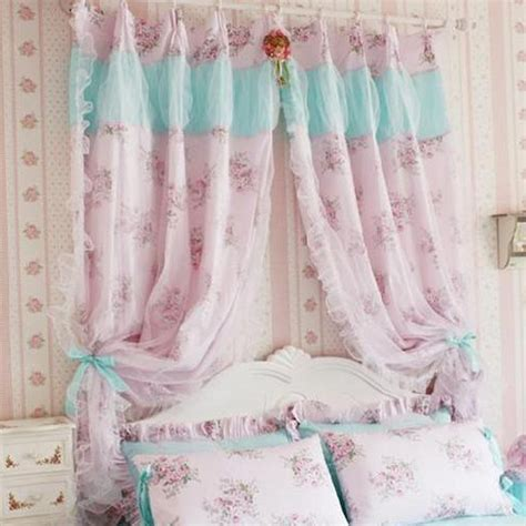 rose drapes shabby chic pink rose curtain
