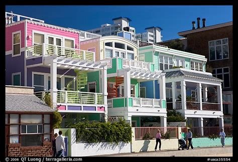 buy house santa monica picture photo row of colorful beach houses santa monica los angeles california usa