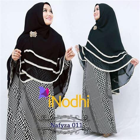 Zahra Khimar Pet Ukuran L nafyza 011 baju muslim gamis modern