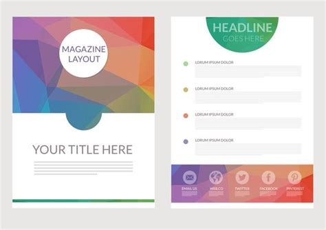 layout free vector download abstract triangular magazine layout vector download free